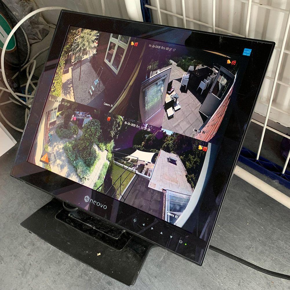 Monitor op netwerkrecorder